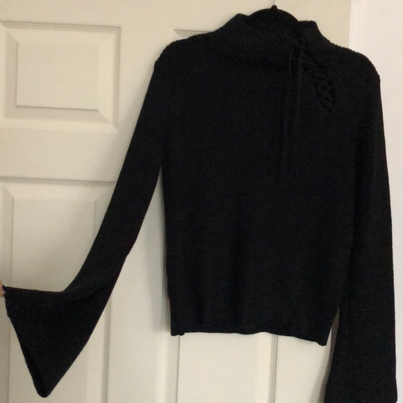 0ebb4403c5 Very cute black sweater with bell sleeves